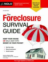 The Foreclosure Survival Guide