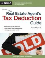 The Real Estate Agent's Tax Deduction Guide