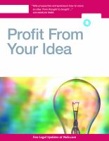 Profit From your Idea