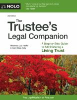 The Trustee's Legal Companion