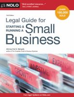 Legal Guide for Starting & Running A Small Business