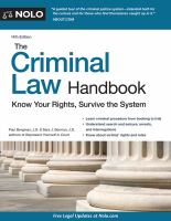 The Criminal Law Handbook