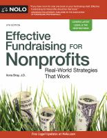 Effective Fundraising for Nonprofits, [2016]