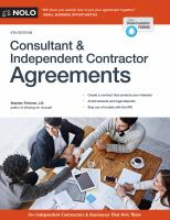 Nolo Consultant & Independent Contractor Agreements, [2017]