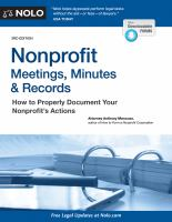 Nonprofit Meetings, Minutes, & Records