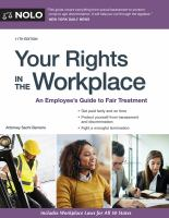 Your Rights in the Workplace