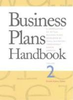Business Plans Handbook, Volume 2