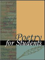 Poetry for Students, Volume 25