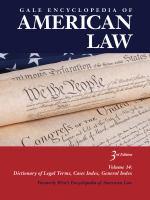Gale Encyclopedia of American Law