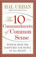The 10 Commandments of Common Sense