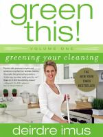 Greening your Cleaning