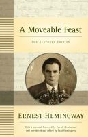 A Moveable Feast, the Restored Edition