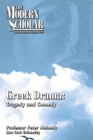 Greek drama tragedy and comedy