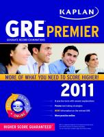 GRE Premier 2011