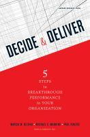 Decide & Deliver