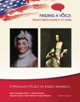 A Woman's Place in Early America