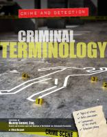 Criminal Terminology