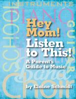 Hey Mom! Listen to This!