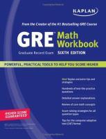 GRE Exam Math Workbook