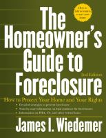 The Homeowner's Guide to Foreclosure