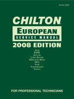 Chilton European Service Manual [2007-2008]