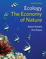 Ecology The Economy Of Nature (7th)