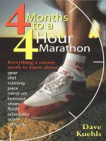 4 Months to A 4-hour Marathon
