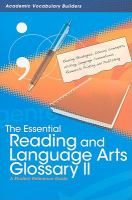 The Essential Reading and Language Arts Glossary