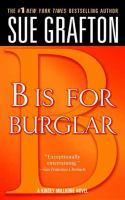 """B"" Is for Burglar"