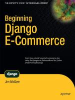 Beginning Django E-commerce