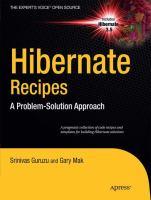Hibernate Recipes