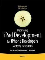 Beginning IPad Development for IPhone Developers