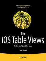 Pro IOS Table Views for IPhone, IPad, and IPod Touch