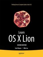 Learn OS X Lion, Second Edition