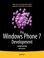 Pro Windows Phone App Development, Second Edition