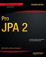 Pro JPA 2, Second Edition
