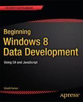 Beginning Windows 8 Data Development
