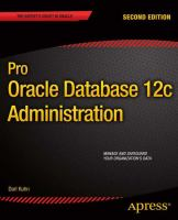 Pro Oracle Database 12c Administration, Second Edition