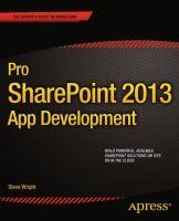 Pro SharePoint 2013 App Development