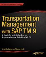Transportation Management With SAP TM 9.0