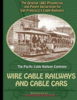 The System of Wire-cable Railways for Cities and Towns