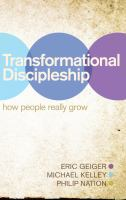Transformational Discipleship