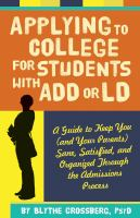 Applying to College for Students With ADD or LD