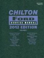 Chilton Ford Service Manual 2012