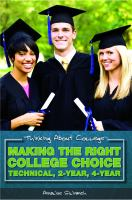 Making the Right College Choice