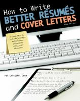 How to Write Better Résumés and Cover Letters