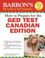 Barron's How to Prepare for the GED Test, Canadian Edition