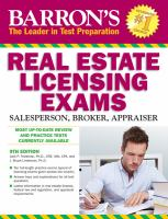 Barron's Real Estate Licensing Exams