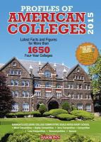 Barron's Profiles of American Colleges