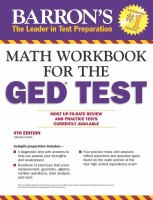 Barron's Math Workbook for the GED Test